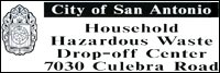 City of San Antonio HHW sign
