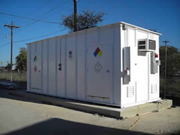 San Marcos Hazmat Storage Building by Safety Storage Inc